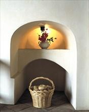 A corner of the birthplace rebuilt as museum of Francisco de Zurbarán (1598-1664), Spanish Painte?