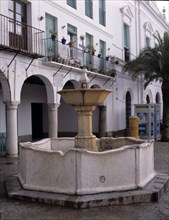 Source designed by the Painter Francisco de Zurbarán in front of the house where he had his studi?