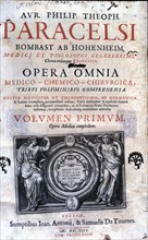 Cover of the work 'Opera Omnia' by Paracelsus, edition of 1658.