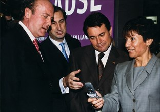 Ana Birulés i Bertran (1954 -). Spanish politician, Minister of Science and Technology, with Artu?