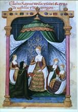 Elizabeth I 'The Catholic' (145 -1504), Queen of Castile, in miniature 'Prayer of Queen Juana la ?