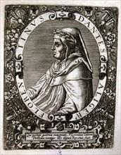 Dante Alighieri (1265-1321), Italian poet, engraving.