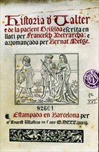 History of Valter and patient Griselda by Francesco Petrarca, facsimile of a 15th century manuscr?