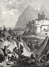 The Christian army lifted the siege of Gibraltar by the death of King Alphonse XI the Just, occur?