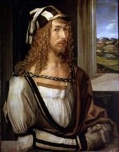Self Portrait by Albrecht Dürer (1471 - 1528), Dutch painter.