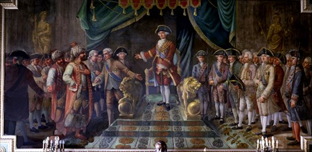 Reception hosted by King Charles III to the Ambassadors of the Ottoman Empire.