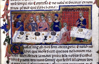 Banquet given by Pere Martell to James I in Tarragona in 1228, where he decided the conquest of t?