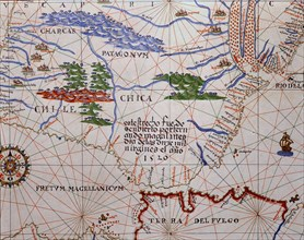 'Atlas of Joan Martines', 1587, representing the Strait of Magellan and the Southern Cone of the?