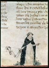Dominican friar.  Miniature 'Libre dels Feyts del Rei en Jacme' (Manuscript of Poblet), manuscrip?