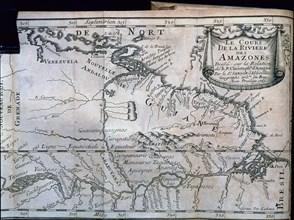 Relation de la Riviere des Amazones', map printed in Paris in 1680, by Cristóbal de Acuña.