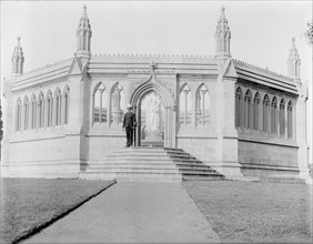 Grenadier at Memorial Well, Cawnpore, India, 1902. Creator: Kirk & Sons of Cowes.