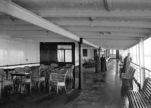 Promenade deck on 'SS Insulinde', 1914. Creator: Kirk & Sons of Cowes.