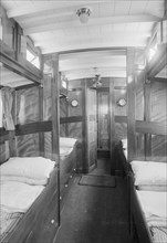 Interior of cabin on cabin cruiser D.G.S.P., 1913. Creator: Kirk & Sons of Cowes.