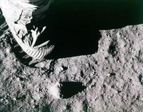 Buzz Aldrin's footprint on the Moon, Apollo 11 mission, July 1969.  Creator: Buzz Aldrin.
