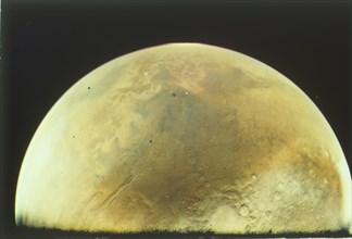 Mars from Viking 1 orbiter, Viking 1 Mission to Mars, 1976.  Creator: NASA.