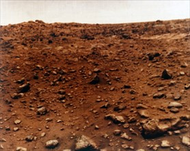 First colour photograph of the Martian planet surface, Viking 1 Mission to Mars, 1976. Creator: NASA.