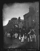 Hibernian Society Procession, Cardiff, 1892. Creator: William Booth.