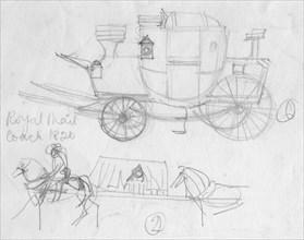 'Royal Mail coach, 1820', (c1950).  Creator: Shirley Markham.