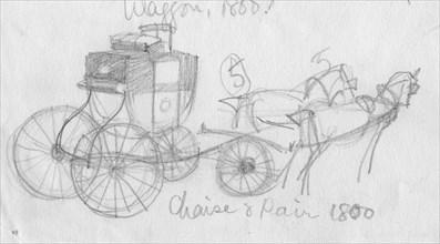 'Chaise and pair, 1800', (c1950).  Creator: Shirley Markham.