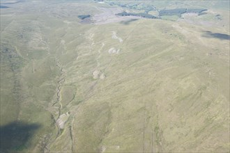 Spoil heaps and trackway, Blea Moor Tunnel, North Yorkshire, 2014