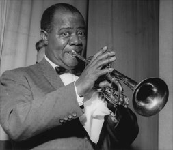 Louis Armstrong on stage on Day 2, Finsbury Park Astoria, London, 1962.