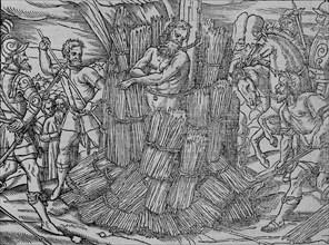 The burning of maister Hierome of Prage', (c1563).