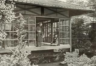 Namikawa San Feeding His Carp', 1910.