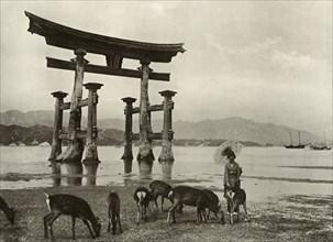 The Old Torii at Miyajima', 1910.