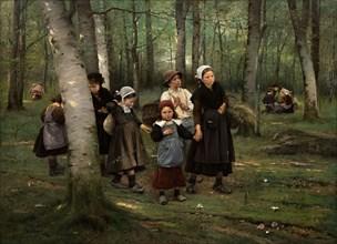 Children in the woods, 1891.