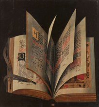 An open book, Mid of 16th cen..