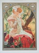 "Poster for Lefèvre-Utile. Sarah Bernhardt in the role of Melissinde in ""La Princesse Lointaine""."