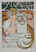 Poster for the A. Mucha's exhibition in the Salon des Cent, 1897.