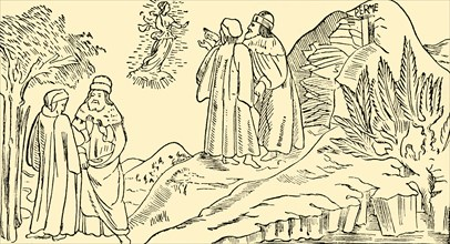 Dante in Purgatory Sees The Vision of Beatrice', c1930.
