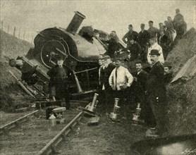 Floods v. Railway Engine - A Collapse Near St. Erth', 1901.