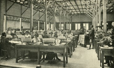 Lady Clerks Tabulating the American Census Returns', 1901.