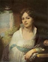 Portrait of Maria Ivanovna Lopukhina', 1797, (1965).