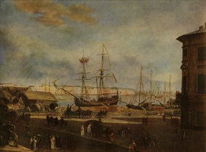 View of the English Quay from...the Building of the Academy of Art', early 19th century, (1965).