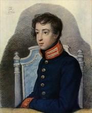 Portrait of Alexandr Pavlovich Bakunin', 1813, (1965).