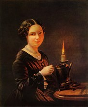 Girl with Candle', 1840s, (1965).