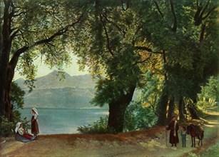 Lake Nemi near Rome', 1820s, (1965).