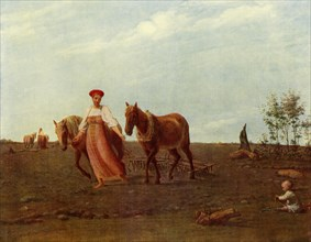 In the Ploughed Field. Spring', 1820s, (1965).