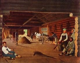 Flailing the Grain', c1821, (1965).