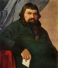 Portrait of Obrazstsov, a Merchant from Rshev', 1830s?, (1965).
