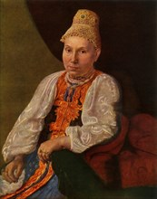 Portrait of the Wife of Obraztsov, the Merchant from Rshev', 1830s?, (1965).