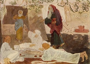 Three pilgrims visiting Abraham', mid 19th century, (1965).
