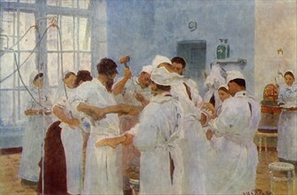 Surgeon Yevgeni Vasilyevich Pavlov (1845-1916) in the Operating Theatre', 1888, (1965).