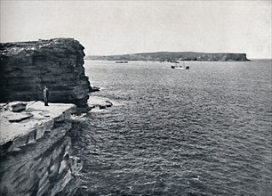 Sydney Heads, at the Gap at Watson's Bay, c1900.