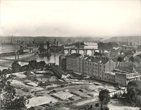 View of the city of Prague, Czechoslovakia, 1895.