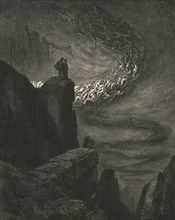 The stormy blast of hell with restless fury drives the spirits on', c1890.