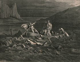 Soon as both embark'd, cutting the waves', c1890.